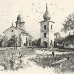 Biserica Sf. Simion din Suceava (Xilogravură de Rudolf Ruß, 1899)