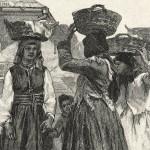 Femei din Roșa într-o piață din Cernăuți.