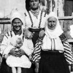 1917  Seated. Sanda Lutic holding Floyd; Domnica Esak; St. Maria Fedoreac