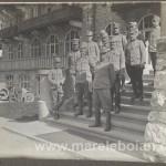 Rarancea - Ferdinand von Scholz Edler cu ofiterii - 1915
